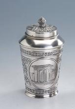 Tea caddy, Russia after 1966, 875 silver