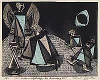Lemcke, Dietmar, geb. 1930, Radierung von drei