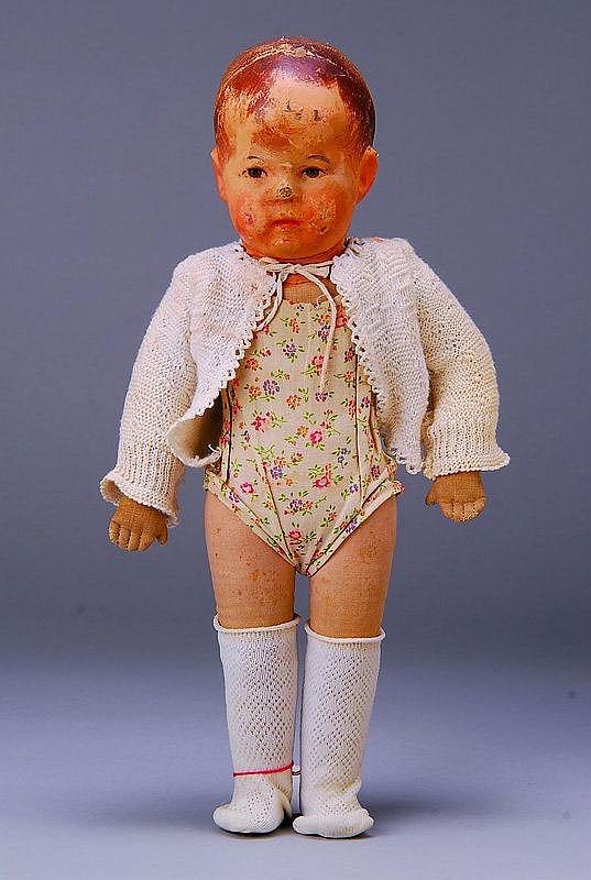 Käthe-Kruse-Puppe I, 20er J., gemalte braune Augen