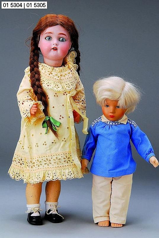 Käthe-Kruse-Puppe, 80er J., Bub mit hellblonder