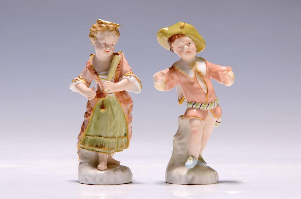 two figurines, KPM Berlin, around 1900, disguised