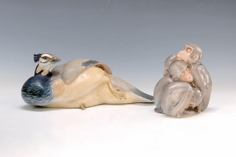 two animal sculptures, Bing & Gröndahl, Middleof 20th c