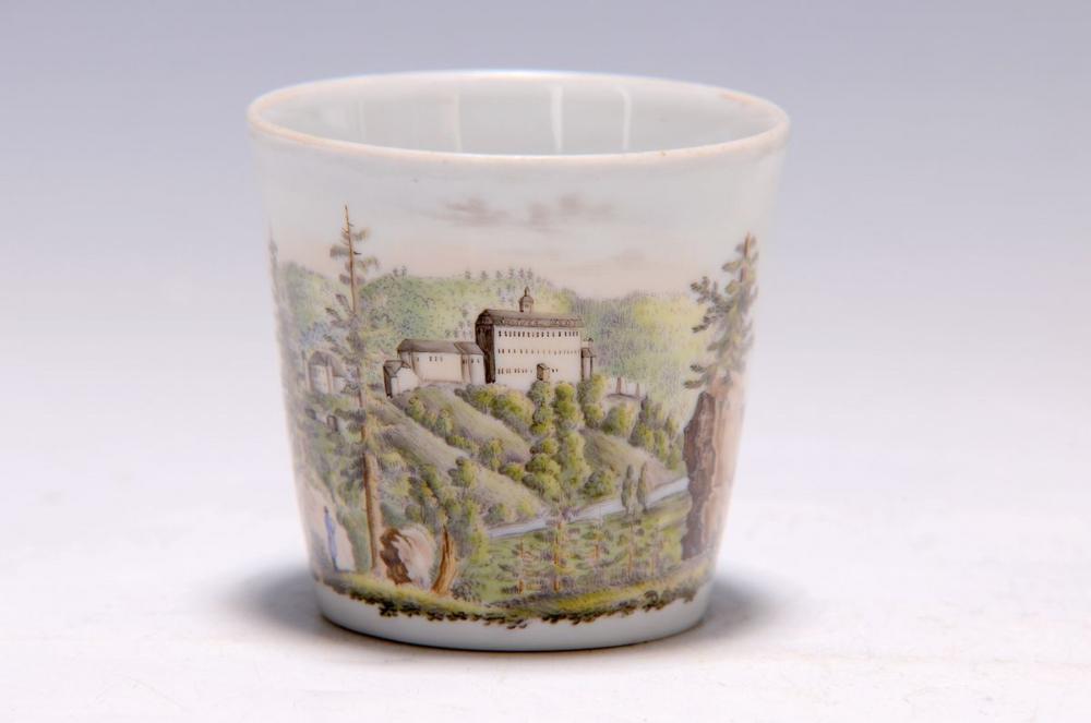 panorama cup, Wallendorf, around 1800, qualityfull