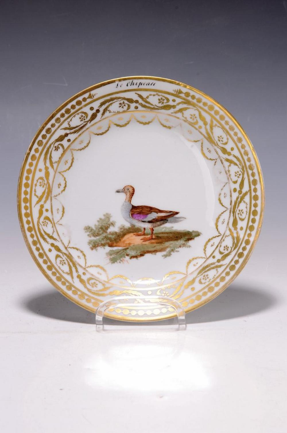 plate, France, around 1810, probably Paris, opulent gold