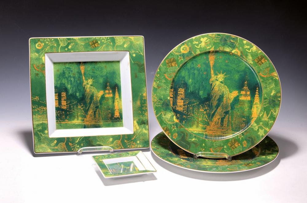 Four pieces Rosenthal porcelain, studio-linie, Christmas