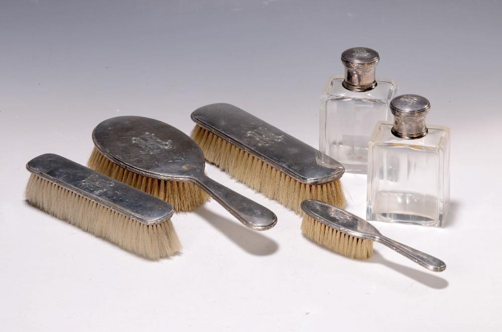 11 pieces with silver parts, German, around 1900, with