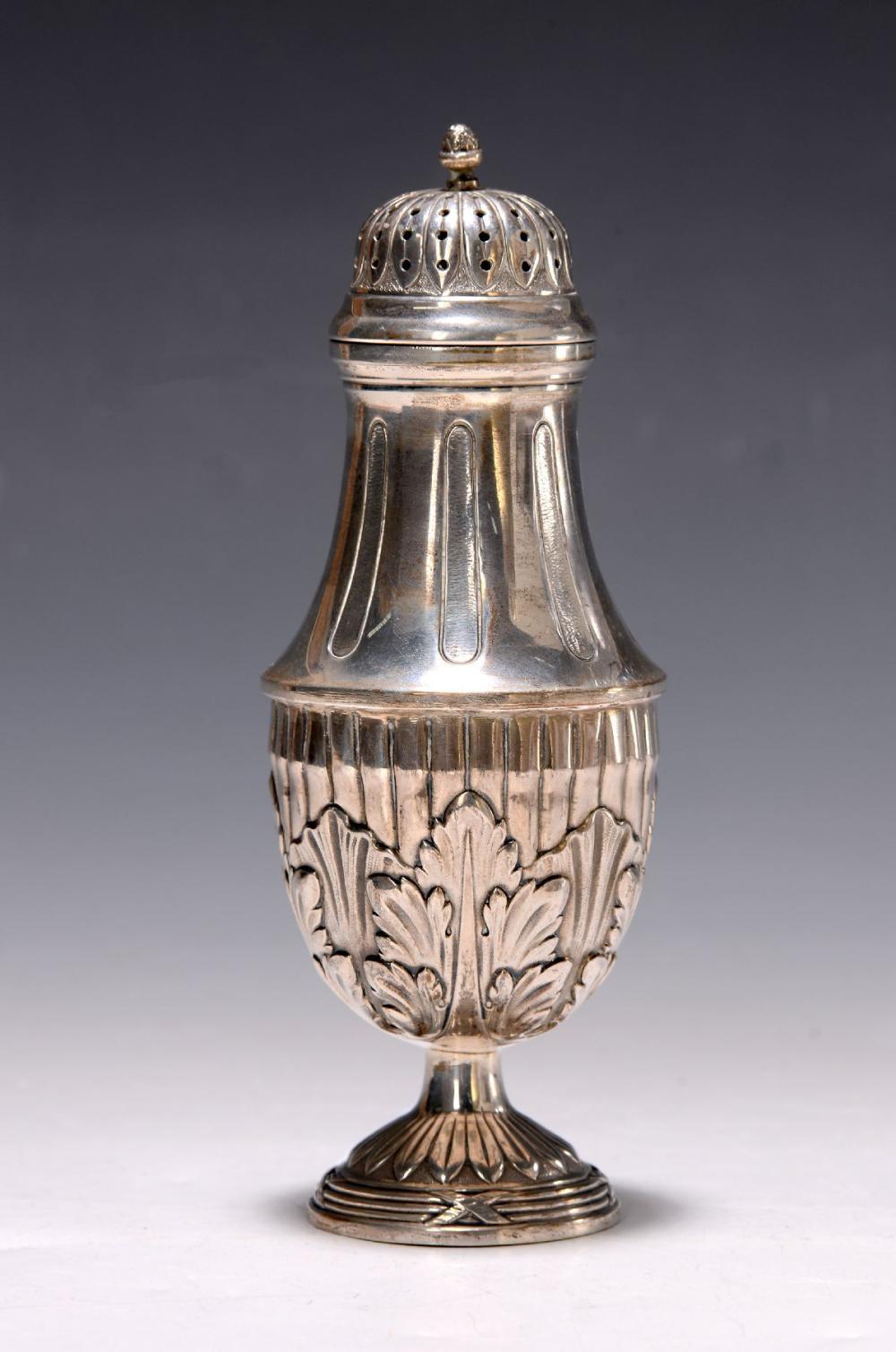 Salt shaker, around 1900, Berlin, classicist decor, 800