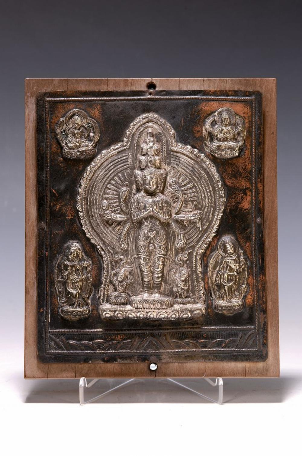 Devotional image, Tibet, around 1900, copper plate with