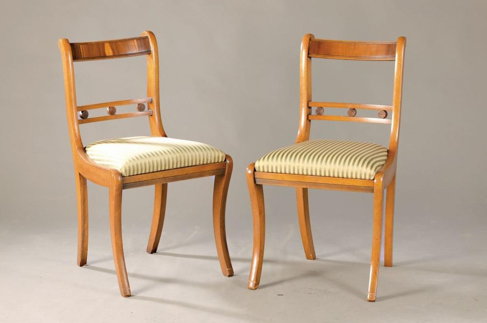 5 chairs, around 1900, in style of the Biedermeier