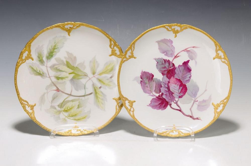 Two decorative plates, KPM Berlin, around 1910-20, 1