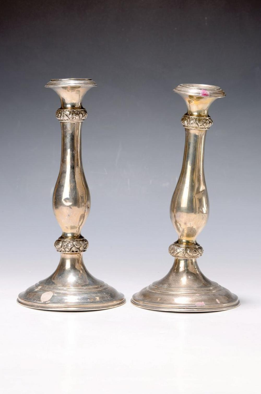 A pair of candlesticks, Vienna, dat. 1856, Master Brand