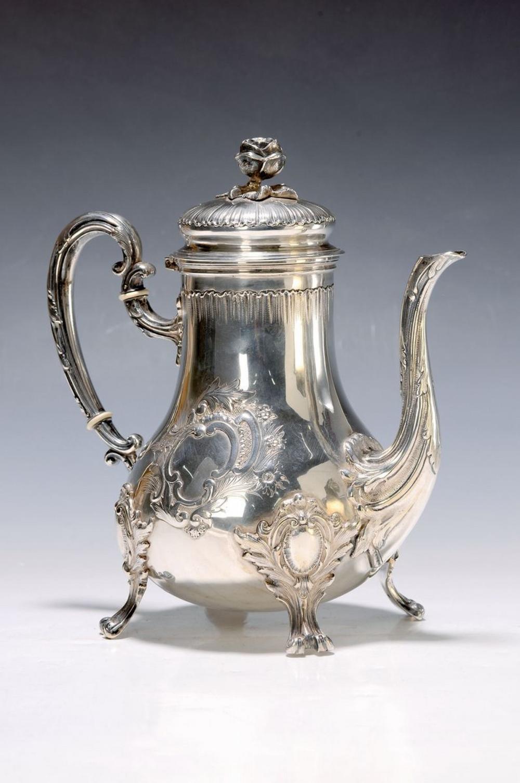 coffee pot, Friedländer, Berlin, around 1870, silver