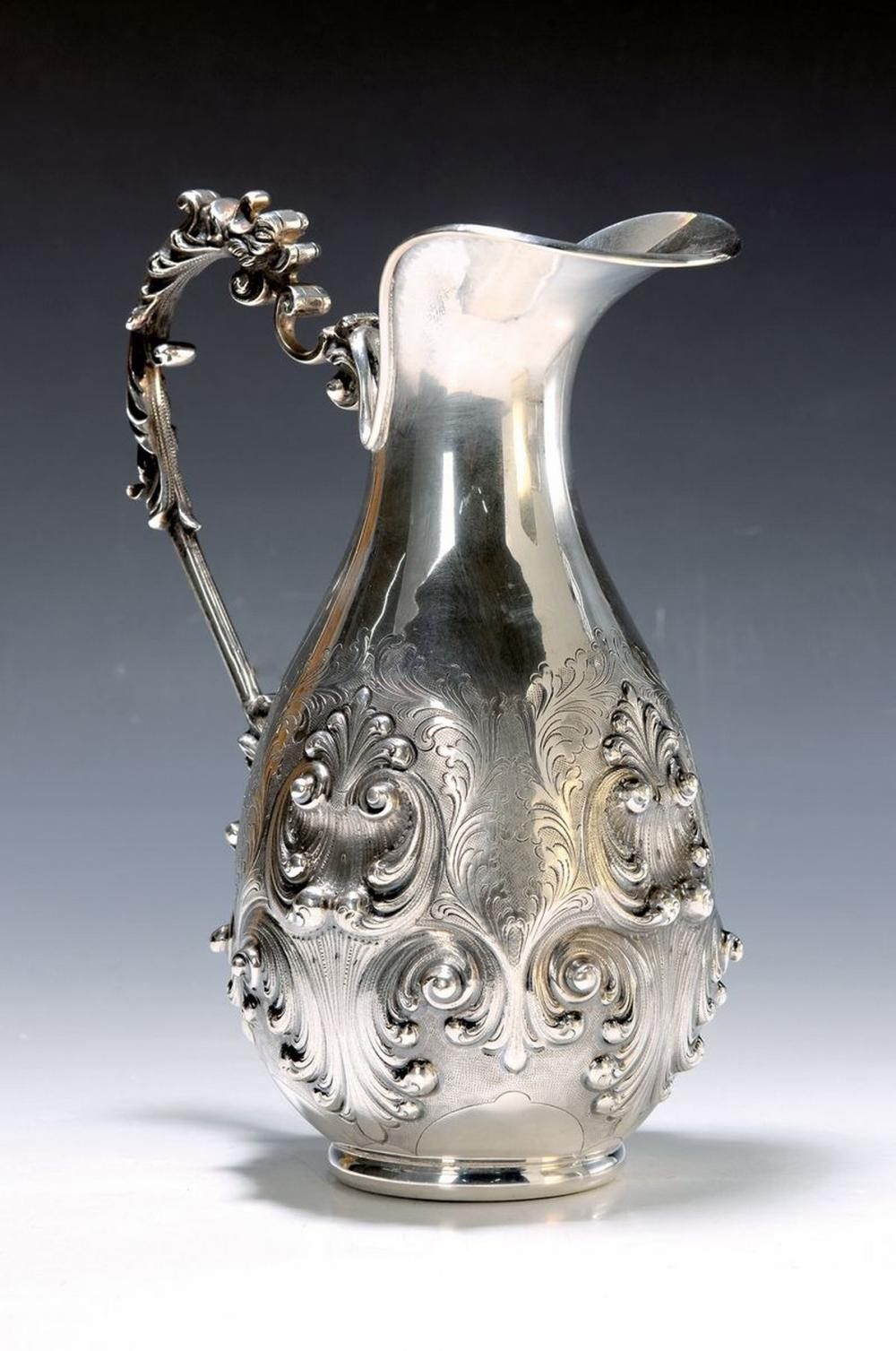 silver jug with Presentoir, Italy, Middle of 20th c., 800