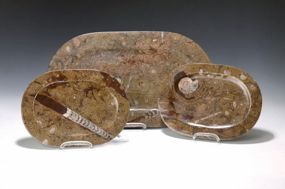 three oval platters of the Lias, approx. 80 Mio years