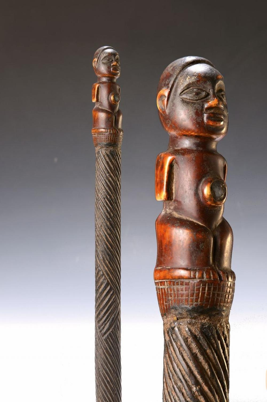 Chief Staff of the Bamileke, Cameroon, around 1920, wood