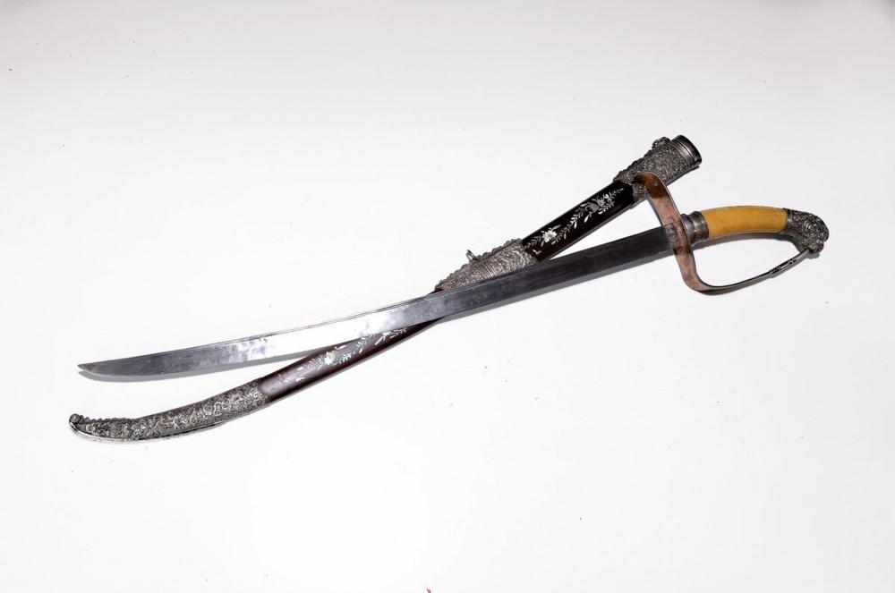 Representation sword, China, around 1900, ivory