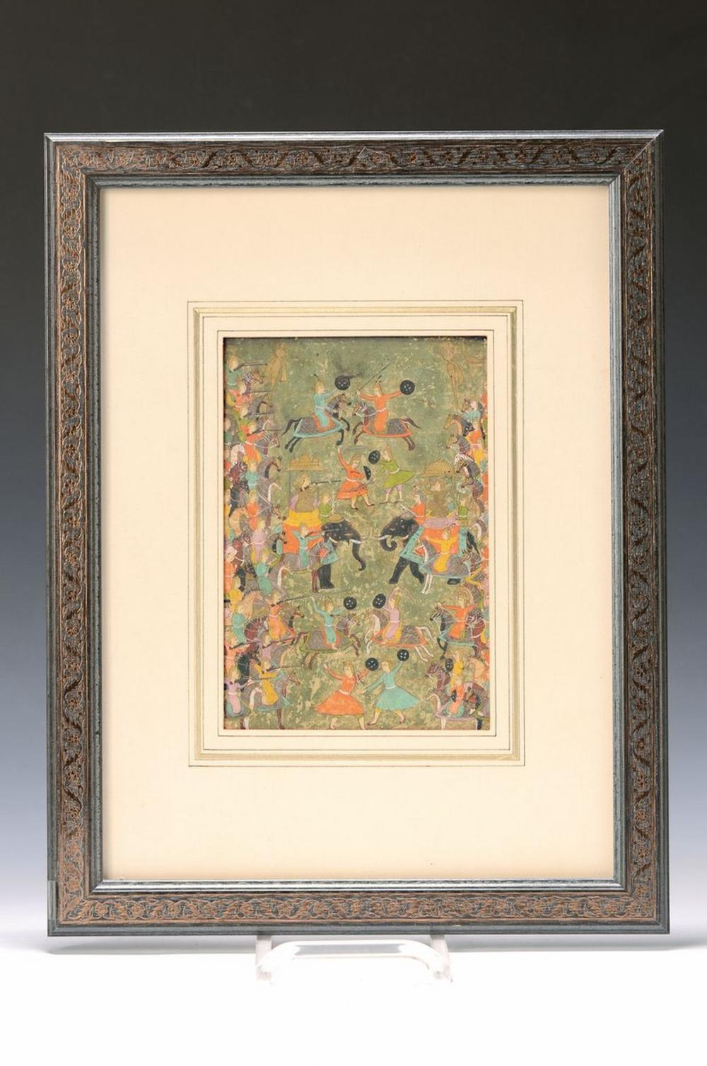 Indian miniature painting, early 19th c., battle of