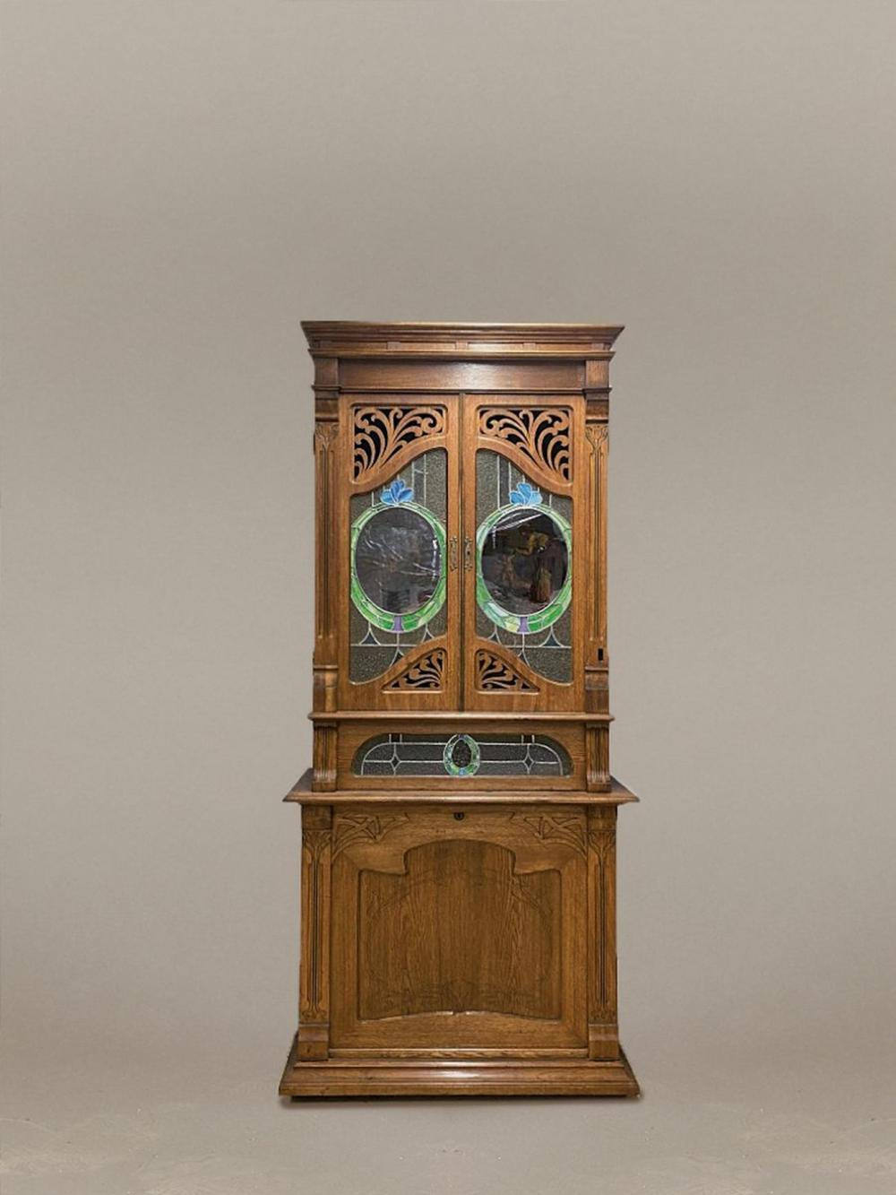 cupboard of an Orchestrion, German, probably Leipzig