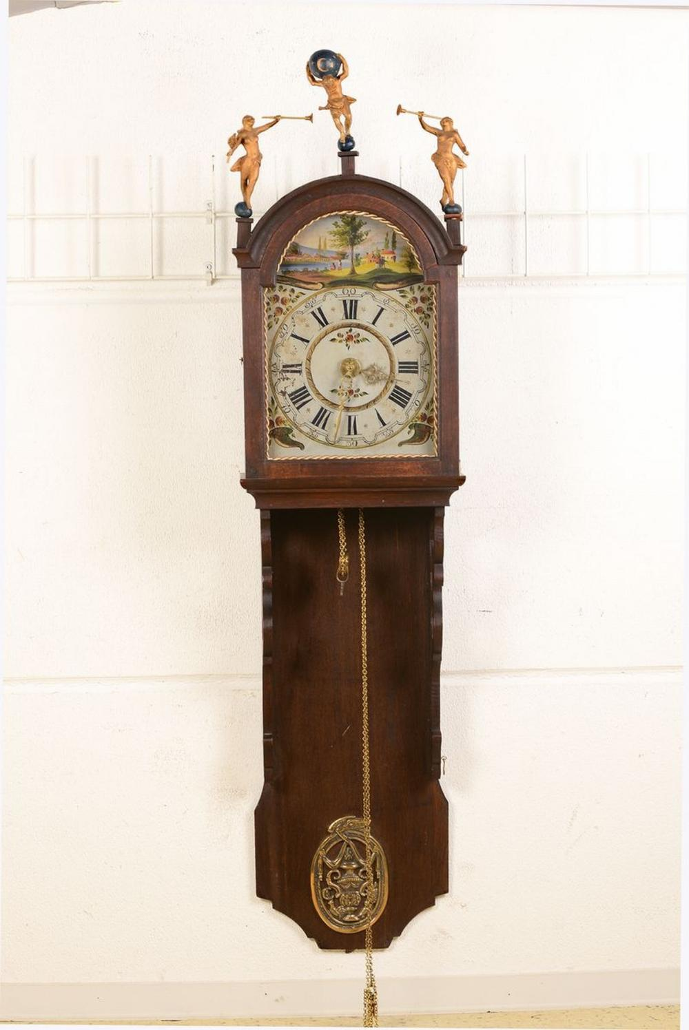 Frisian Staartclock, Middle of 20th c., wood housing with