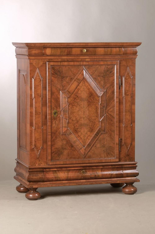 Very rare small Baroque cabinet/ Half cupboard