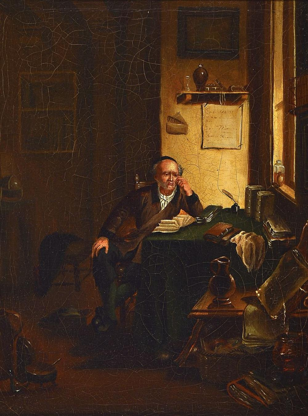 Unidentified artist, german, mid 19th century,The scholar