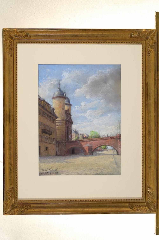Karl Stauss, 1887 Heidelberg-1964 Würzburg, pastel /