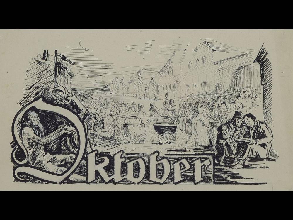 Adolf Kessler, 1890 Godramstein-1974, three ink drawings