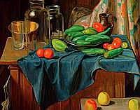 Croissant, Hermann, 1897-1963 Landau, Stilleben