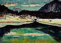 Leidl, Anton, 1900-1976, Tutzinger Maler, Stau bei
