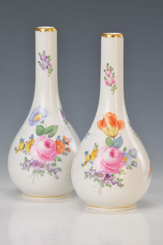 two vases, Nymphenburg