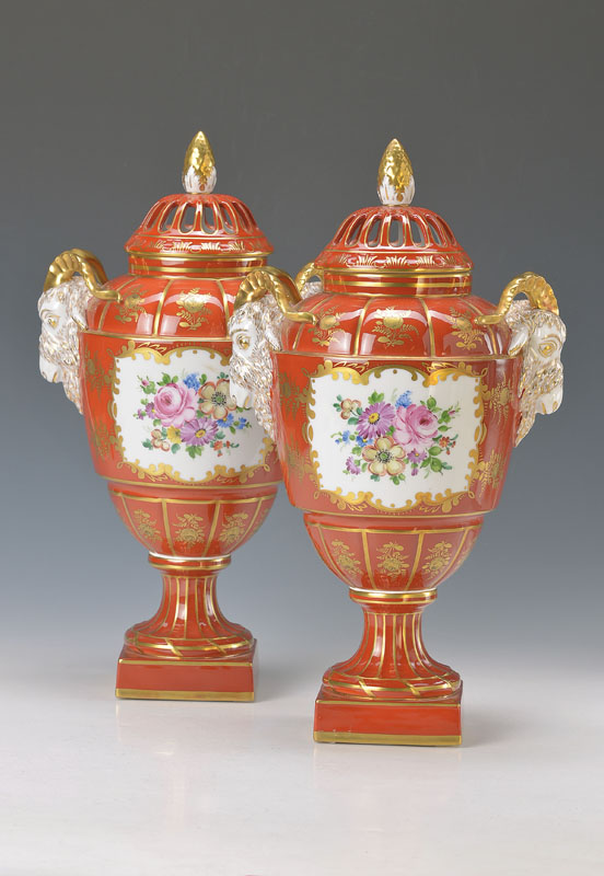 two vases, Dresden