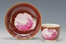 cup with saucer, Frankenthal