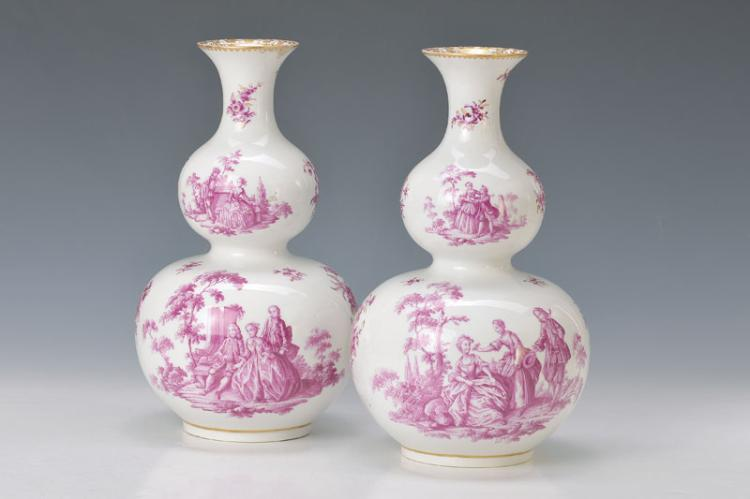 pair of vases, Meissen