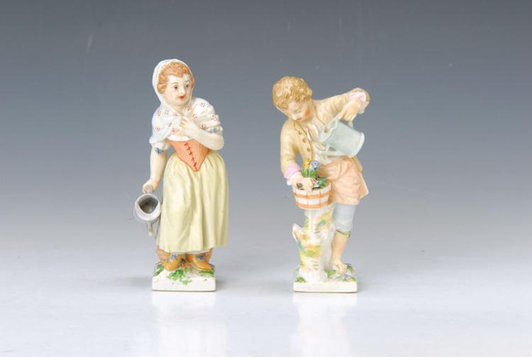 pair of figurines, KPM