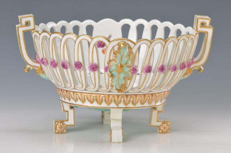 basket bowl, Meissen