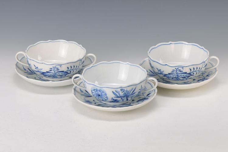 10 soup bowls with saucers