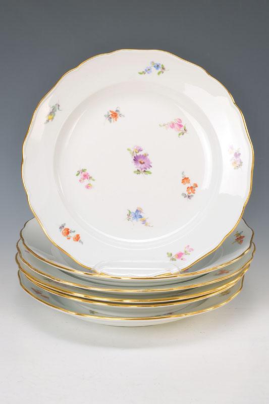 Six plate, Meissen