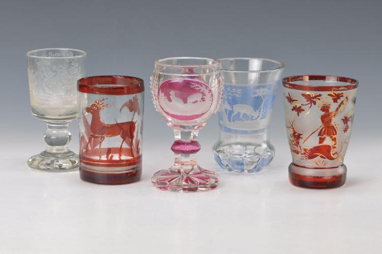5 glasses, Bohemia