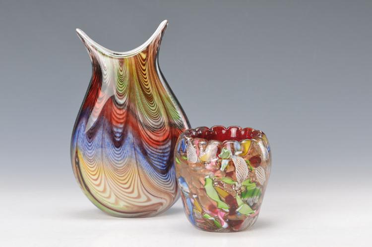 two Murano-vases