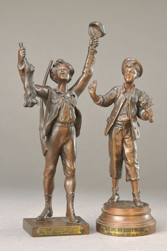 two Bronze sculptures
