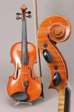 violin with two bows