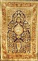 Türkischer Seidenteppich alt, Türkei,Hereke, um