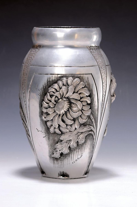 box, vase and bowl, 1920s, aluminum, box signed M
