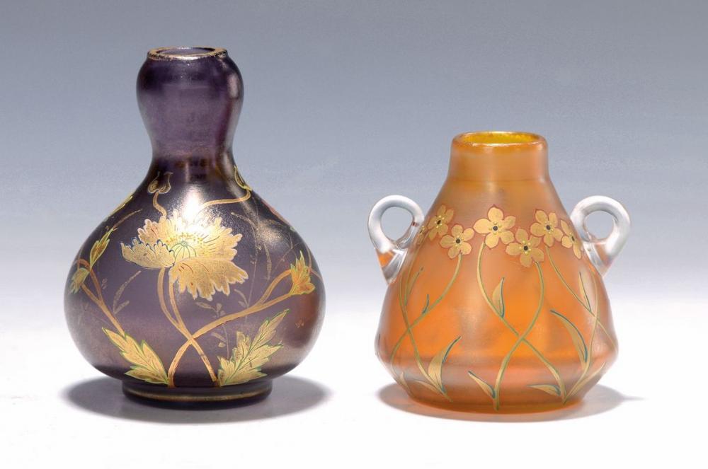 2 small Art Nouveau vases, Fritz Heckert Petersdorf