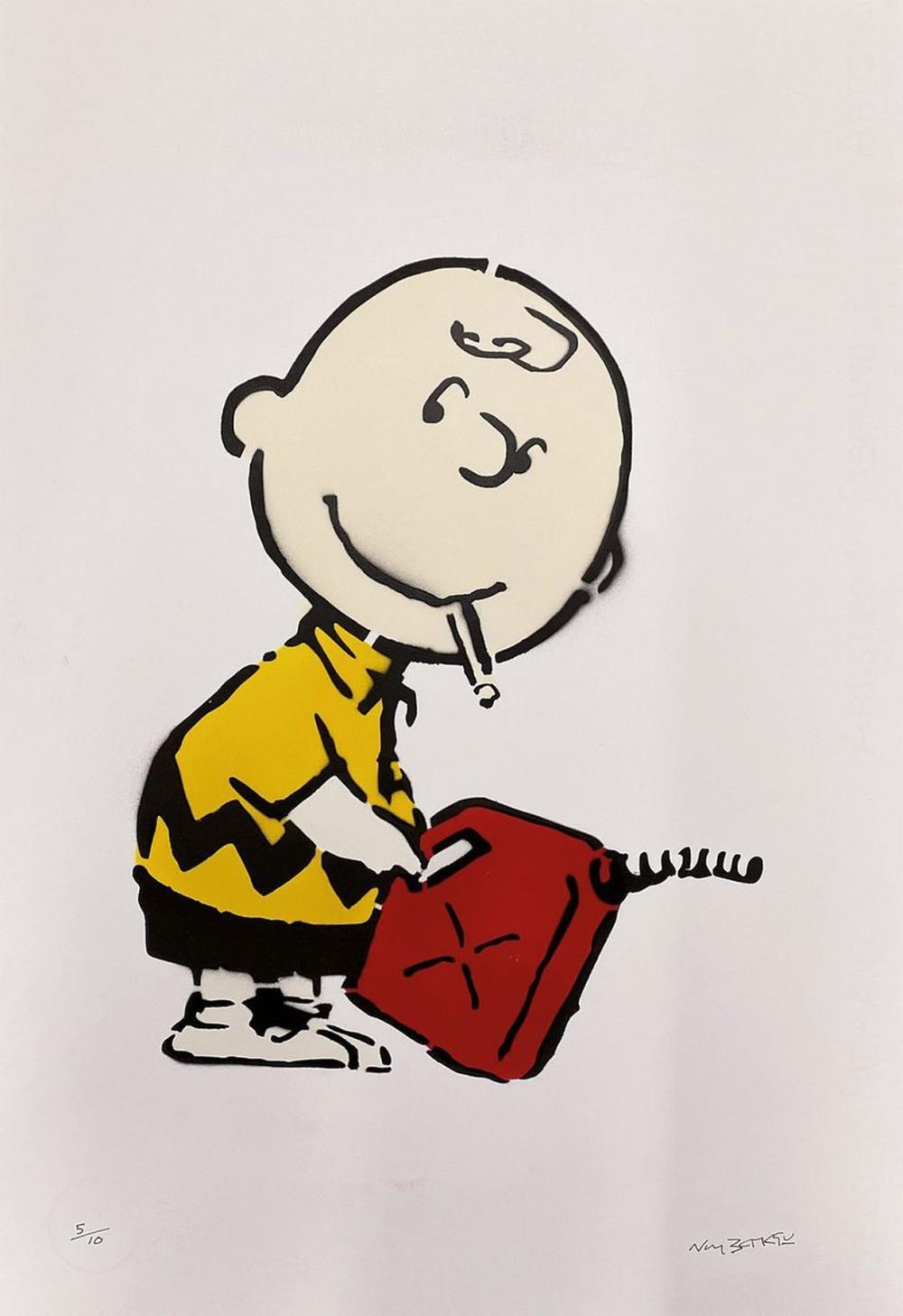 Not Banksy by Not Banksy, # 'Charlie Brown #',2020