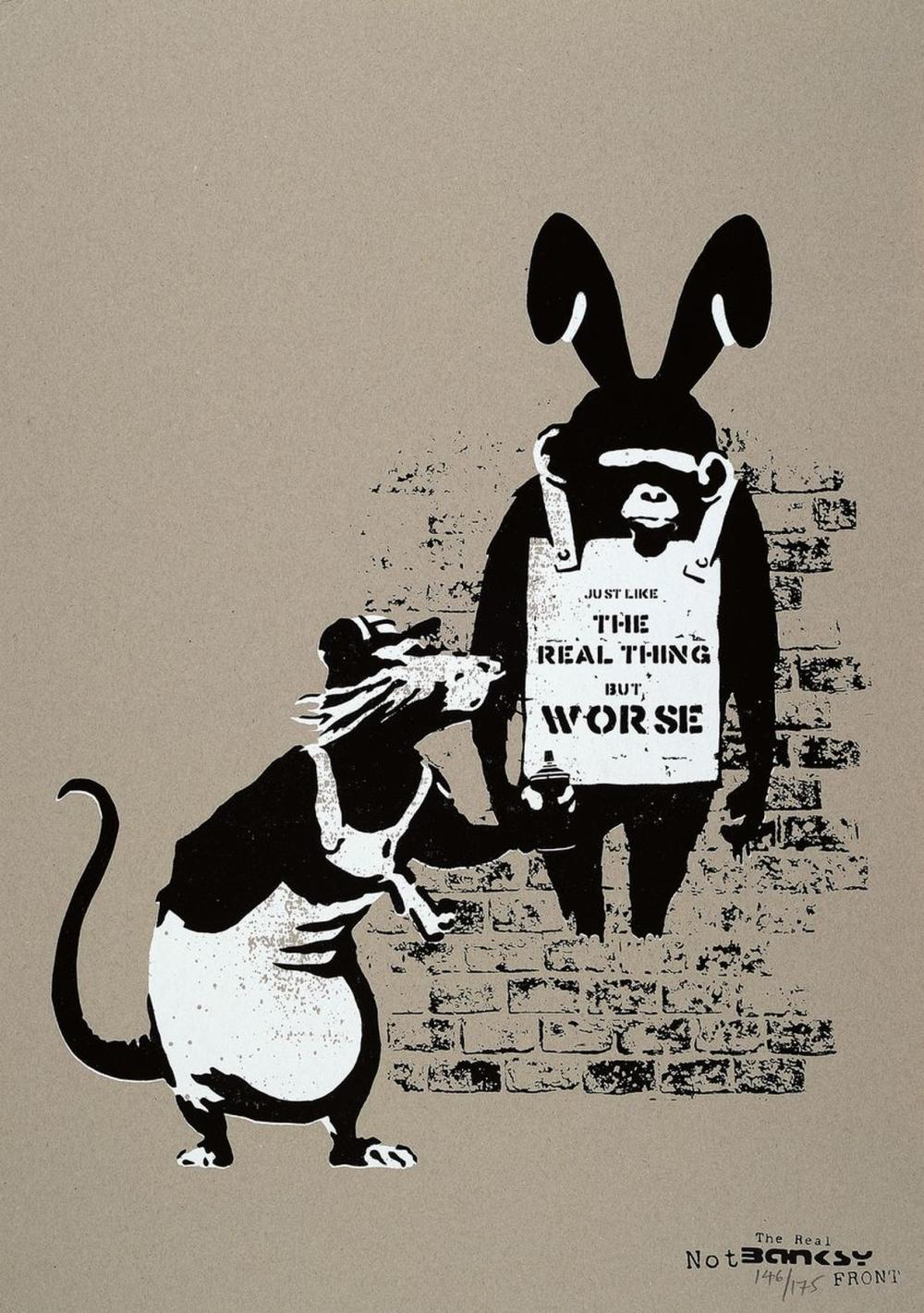 The Real Not Banksy Front, # 'Like The Real thing but