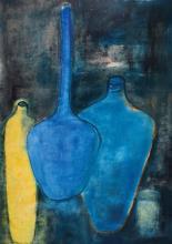 Lucien Sotto, contemporary Belgian artist, acrylic/canvas