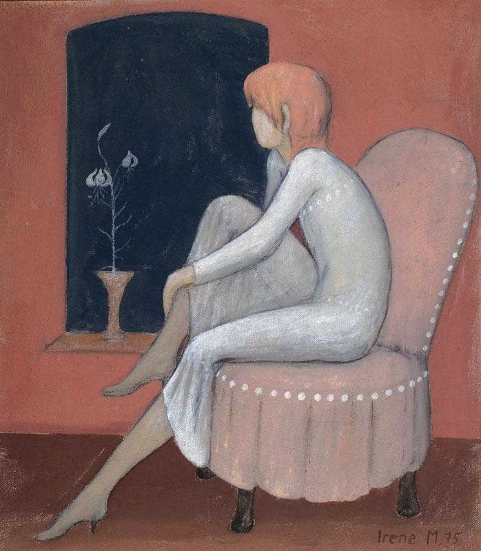 Irene Müller, born 1941 Bielefeld, dreaming girl on the
