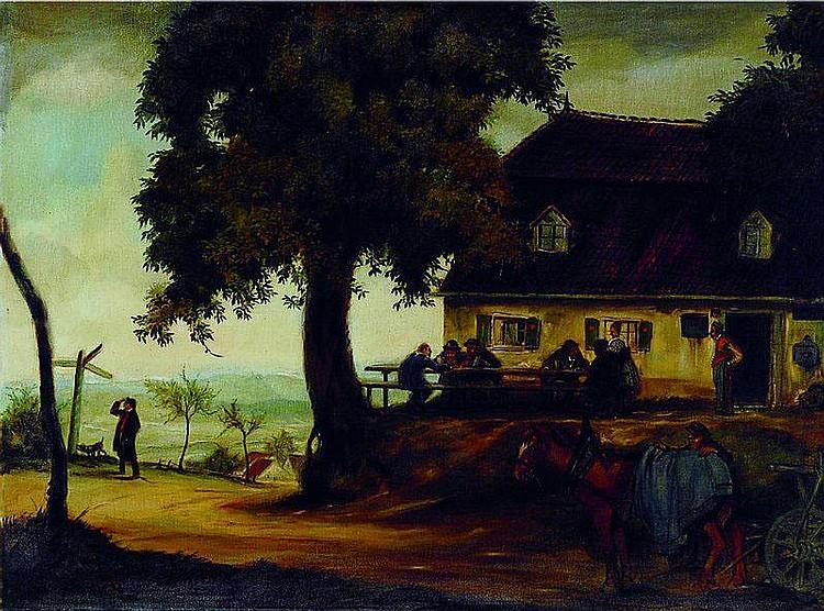 Gradl, Hermann, 1883-1964, Ausflugslokal mit