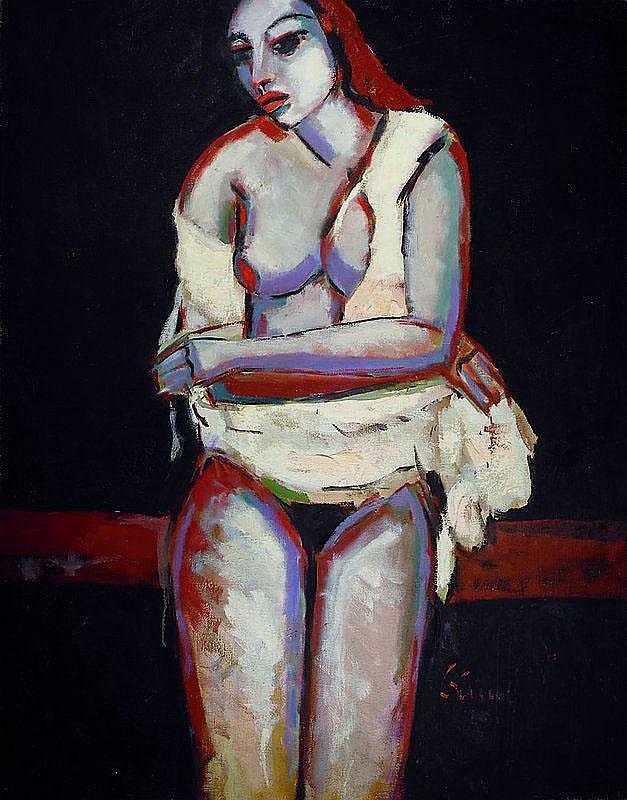 Kissel, Gernot, 1939 Worms - 2008, sitzender